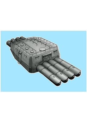61cm Quadruple (Oxygen) Torpedo Mount Late Model 286 Equipment
