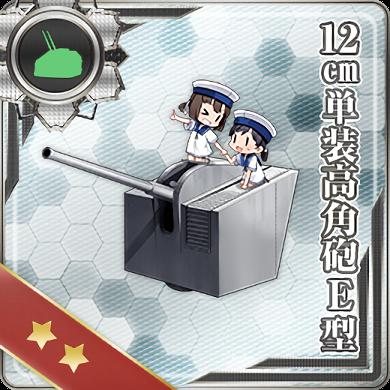 12cm Single High-angle Gun Mount Model E 382 Card