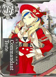Commandant Teste Christmas Card