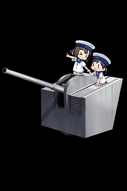 12cm Single High-angle Gun Mount Model E 382 Full