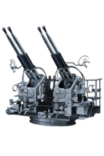 Bofors 40mm Quadruple Autocannon Mount 173 Equipment