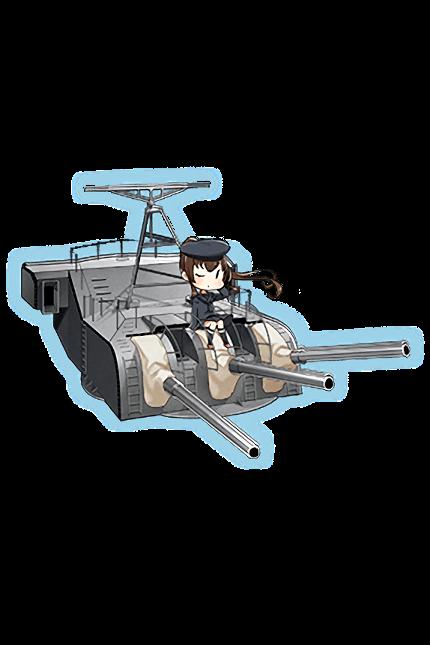 15.5cm Triple Secondary Gun Mount Kai 234 Full