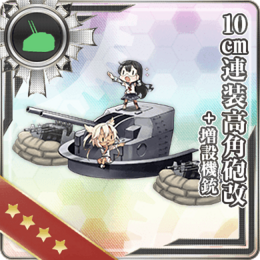 10cm Twin High-angle Gun Mount Kai + Additional Machine Guns 275 Card
