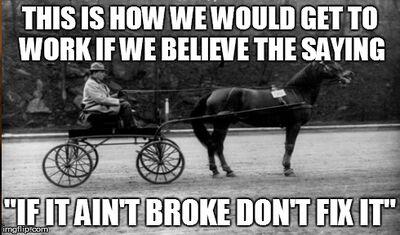 Fix what aint broken