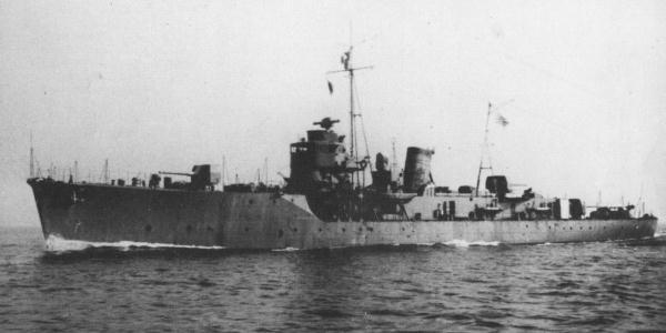 Japanese escort ship Etorofu 1943