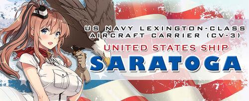 Saratoga eagle banner