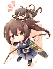 Akagi riding Kaga av