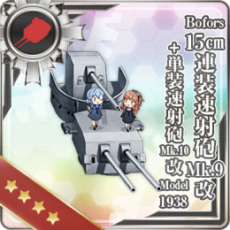 Bofors 15cm Twin Rapid Fire Gun Mount Mk.9 Kai + Single Rapid Fire Gun Mount Mk.10 Kai Model 1938 361 Card
