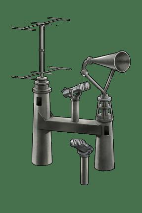Submarine Radar & Waterproof Telescope 210 Equipment