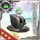 12.7cm Single High-angle Gun Mount Kai 2 379 Card