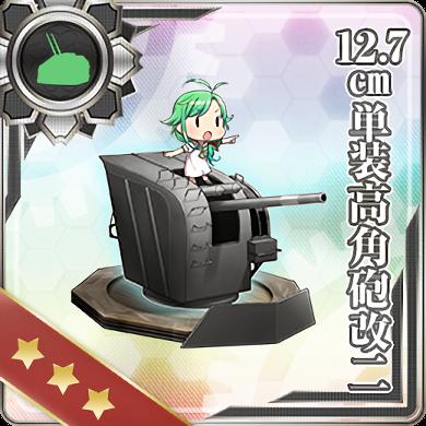 12.7cm Single High-angle Gun Mount Kai 2 379 Card
