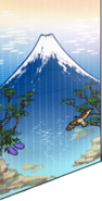 Mt.Fuji tile painting