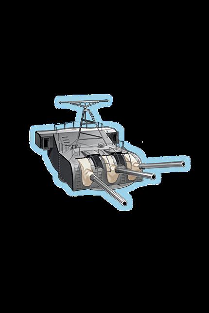 15.5cm Triple Secondary Gun Mount Kai 234 Equipment