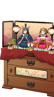 King doll Nagato and Queen doll Mutsu