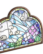 Hydrangea stained glass