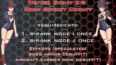 【KanColle】 Winter 2017 Event E-3 Secret Debuff