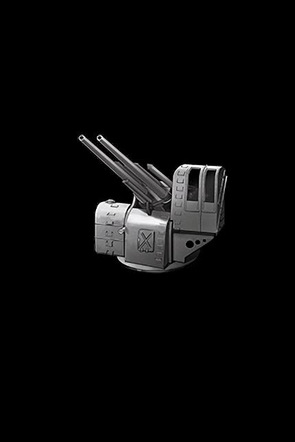 12.7cm Twin High-angle Gun Mount 010 Equipment