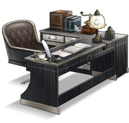 Admiral's study desk