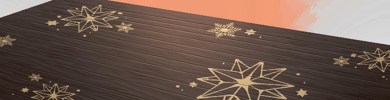 Snow-painted Floorboards
