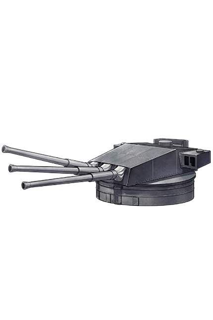 381mm 50 Triple Gun Mount 133 Equipment
