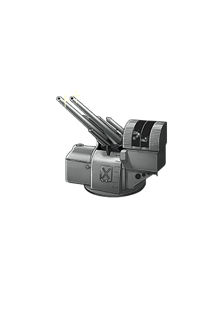 12.7cm Twin High-angle Gun Mount (Late Model) 091 Equipment
