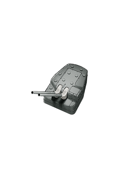 12.7cm Twin Gun Mount Model B Kai 2 063 Equipment