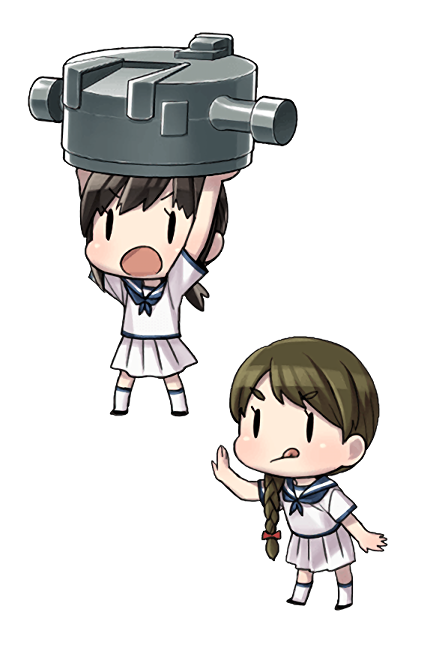 12.7cm Twin Gun Mount Model A Kai 3 (Wartime Modification) + Anti-Aircraft Fire Director 295 Character