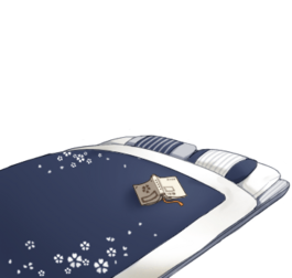 Well-used futon