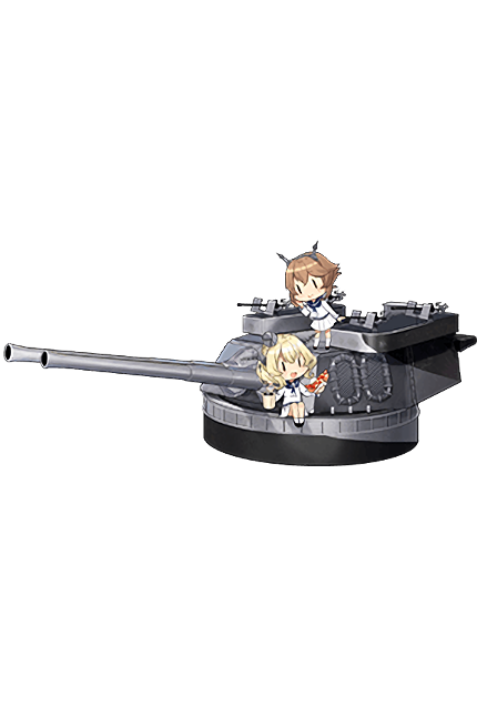 16inch Mk.VIII Twin Gun Mount Kai 332 Full