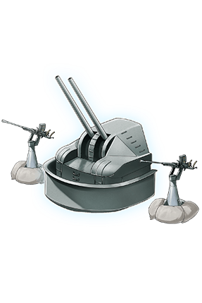 8cm High-angle Gun Kai + Additional Machine Guns 220 Equipment