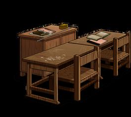 Classroom set Teacher's desk