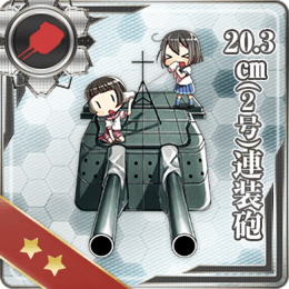 20.3cm (No.2) Twin Gun Mount 090 Card