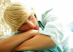 Cute-Blonde-Boy-at-Rest