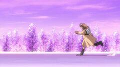 The ending scene of 2006 Kanon anime