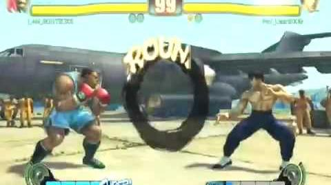 Street Fighter 4 EVO 2k9 GOOTECKS THROWS HIS STICK AT WALL
