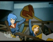LilyMu Scene - Mitsuki and Lily uses Mikey's shield - Mitsuki vanishes