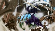 Harlequin destroying the Karakuri Gate