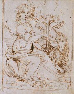 Leonardo da Vinci - Ashmole Museum - Maiden with a Unicorn