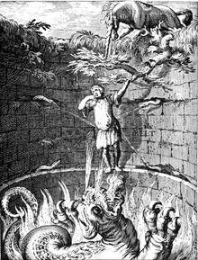 Barlaam & Ioasaph - Allegory of the man in the abyss Boetius Adam Bolswert