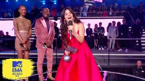 Camila Cabello Accepts Best Video Award MTV EMAs 2018