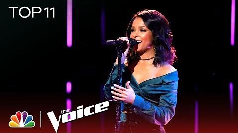 "Lynnea Moorer Performs ""Consequences"" - The Voice 2018 Live Top 11 Performances"