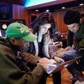 Camila macbook with Pharrell and Frank Dukes