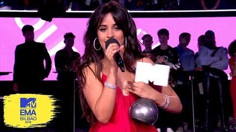Camila Cabello Accepts Award for Best Song MTV EMAs 2018