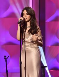 Camila award for Breakthough Artist at Billboard Women in Music (11)