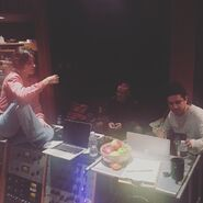 Camila on Studio with producer and Frank Dukes