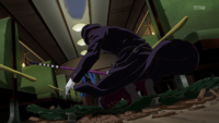 Hirato enters the train
