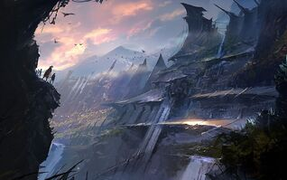 Fantasy Mountain Art Hd Background 9 HD Wallpapers