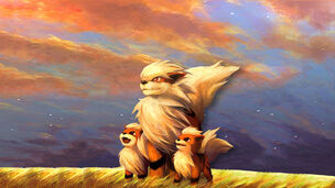 Arcanine with her puppy's