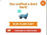 Blue Plane Kart