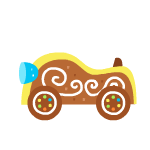 Yellowgingerbreadkart